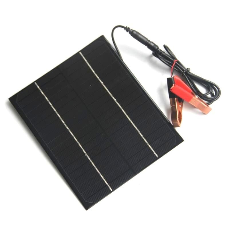 Portable 12v 6w Diy Monocrystalline Silicon Solar Panel With Crocodile Clip Module Board From Electronic Components Supplies On Banggood Com Solar Panels Silicon Solar 3d Printer Supplies