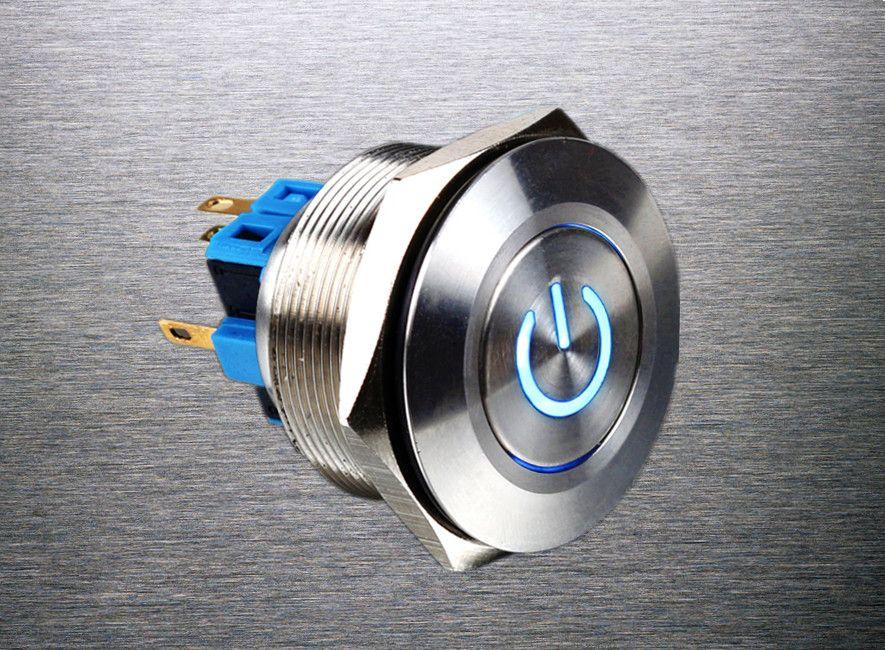 1pc 30mm Metal Stainless Steel Waterproof Momentary Doorebll Horn