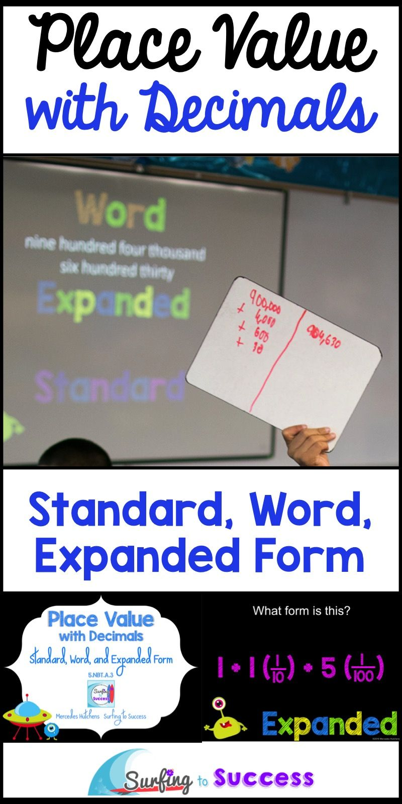 Decimal Place Value Standard Word And Expanded Form Powerpoint