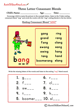 Consonant Blends Worksheets  English Phonics