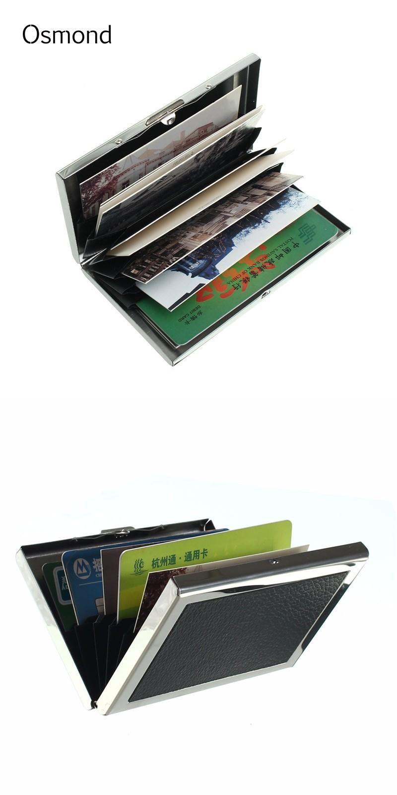Visit to Buy] Osmond Stainless Steel Men Credit Card Holder Women ...