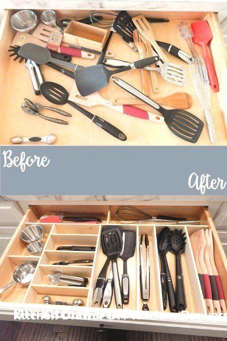 DIY Kitchen Drawer Organizer Ideas  #kitchendesign #kitcendecor