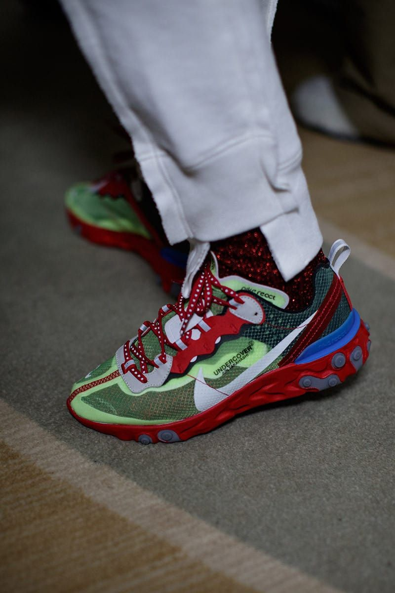 2107ebee3290 Undercover x Nike React element 87 Red Volt