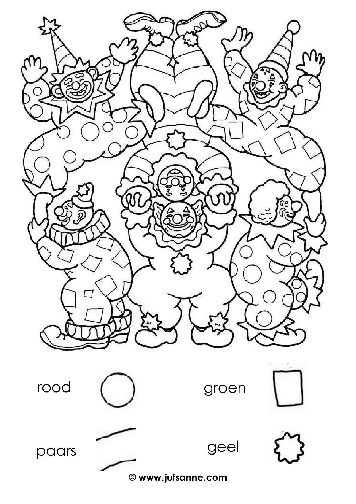 Carnaval Kleurplaten Kleurboek Kleurplaten Voor Kinderen