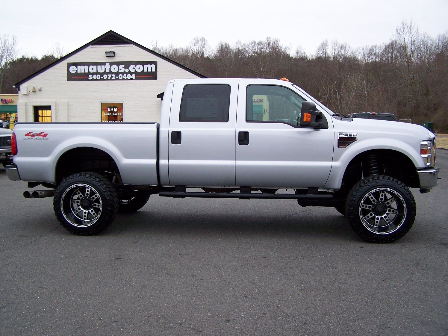 lifted 2008 ford f250 crew cab lariat 4x4 6 4l powerstroke diesel cars. Black Bedroom Furniture Sets. Home Design Ideas
