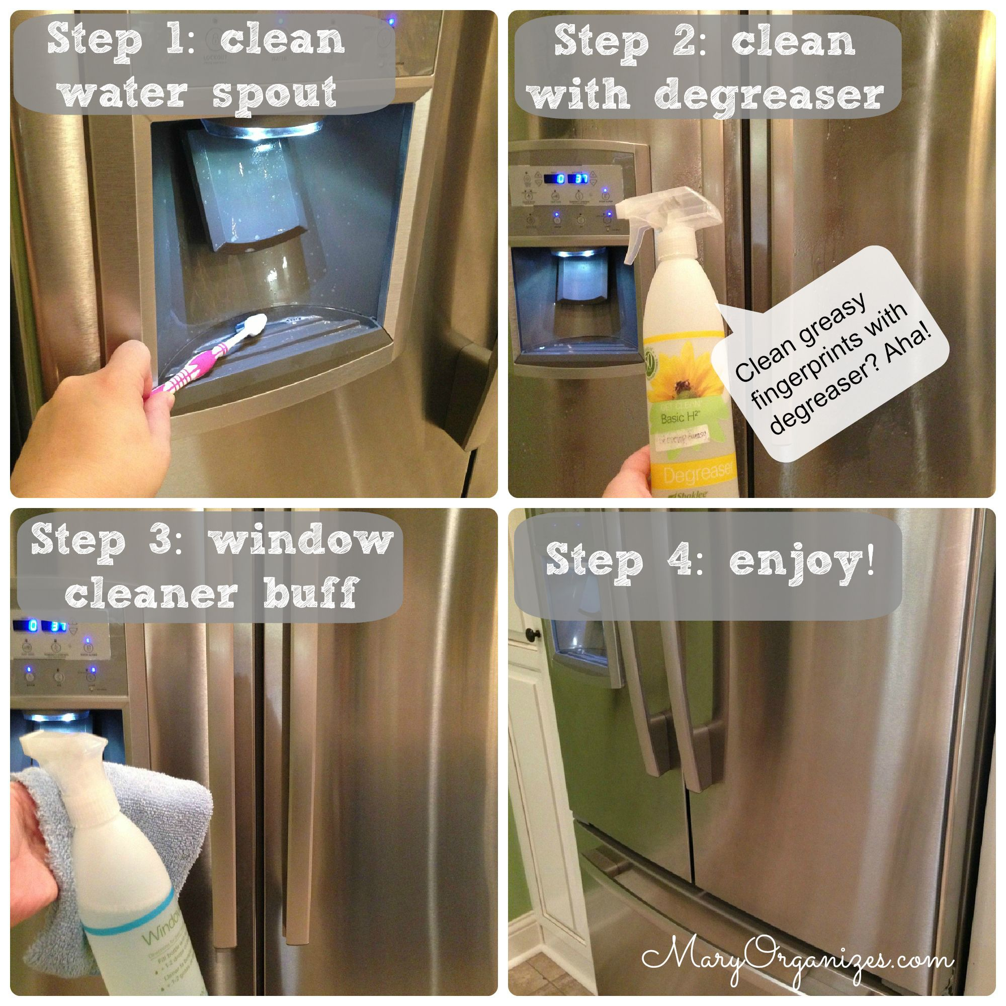 How I Clean My Stainless Steel Appliances Creatingmaryshome Com Cleaning Stainless Steel Appliances Cleaning Stainless Steel Fridge Stainless Steel Cleaning