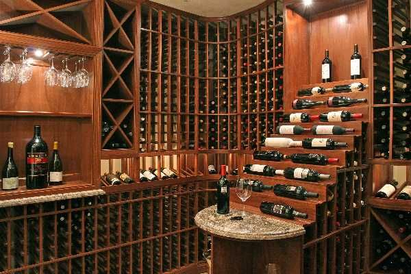 A well-stocked wine cellar