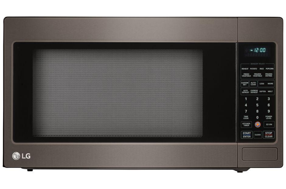 Lg Black Stainless Steel Series 2 0 Cu Ft Countertop Microwave
