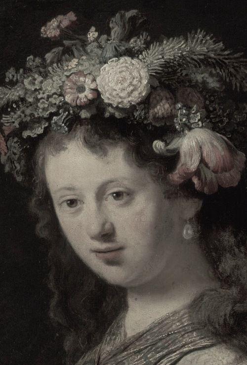 Flora (detail), Rembrandt, ca. 1634