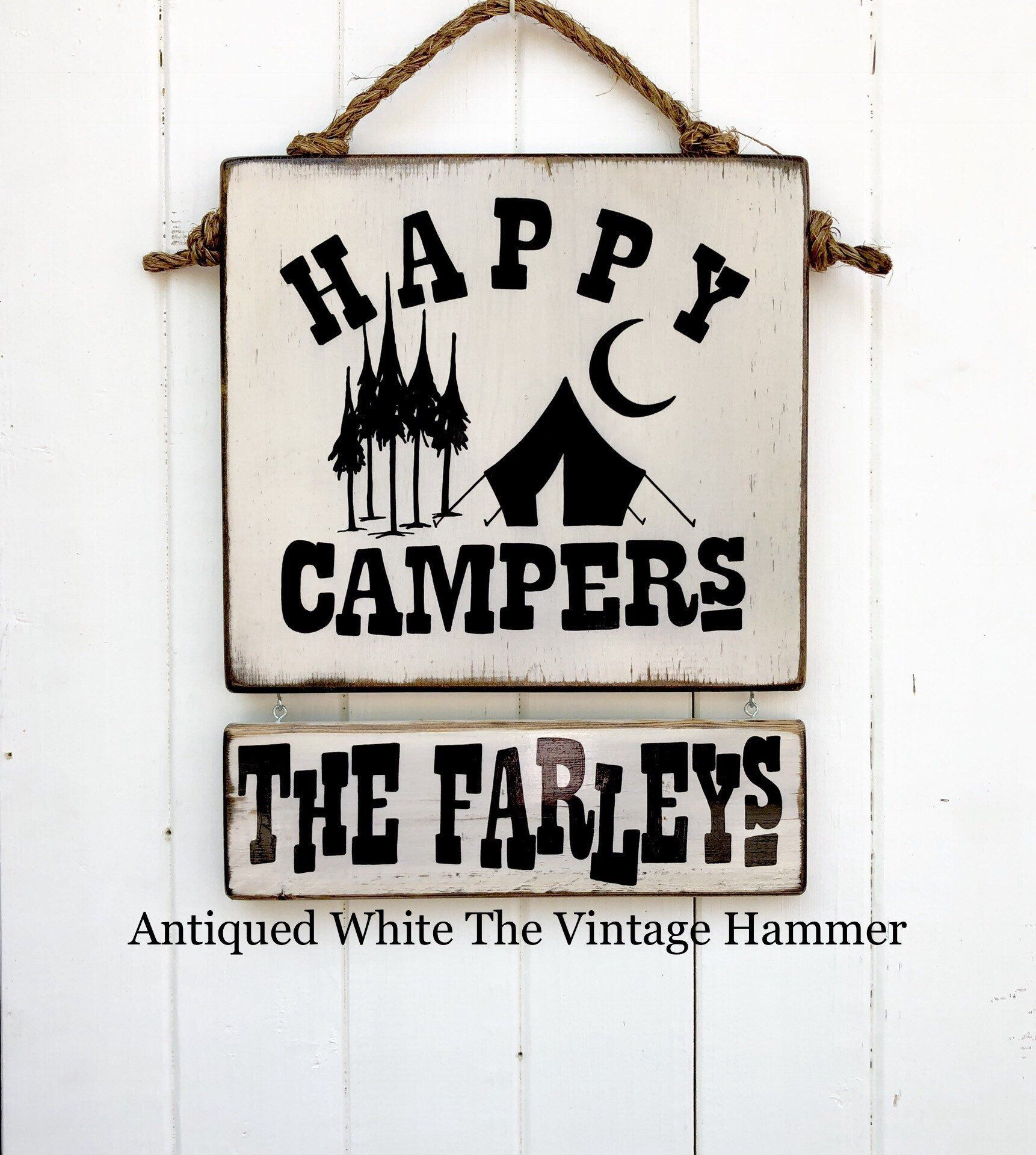 Custom Camping Signs Choose From 4 Styles And 16 Colors Etsy Shop