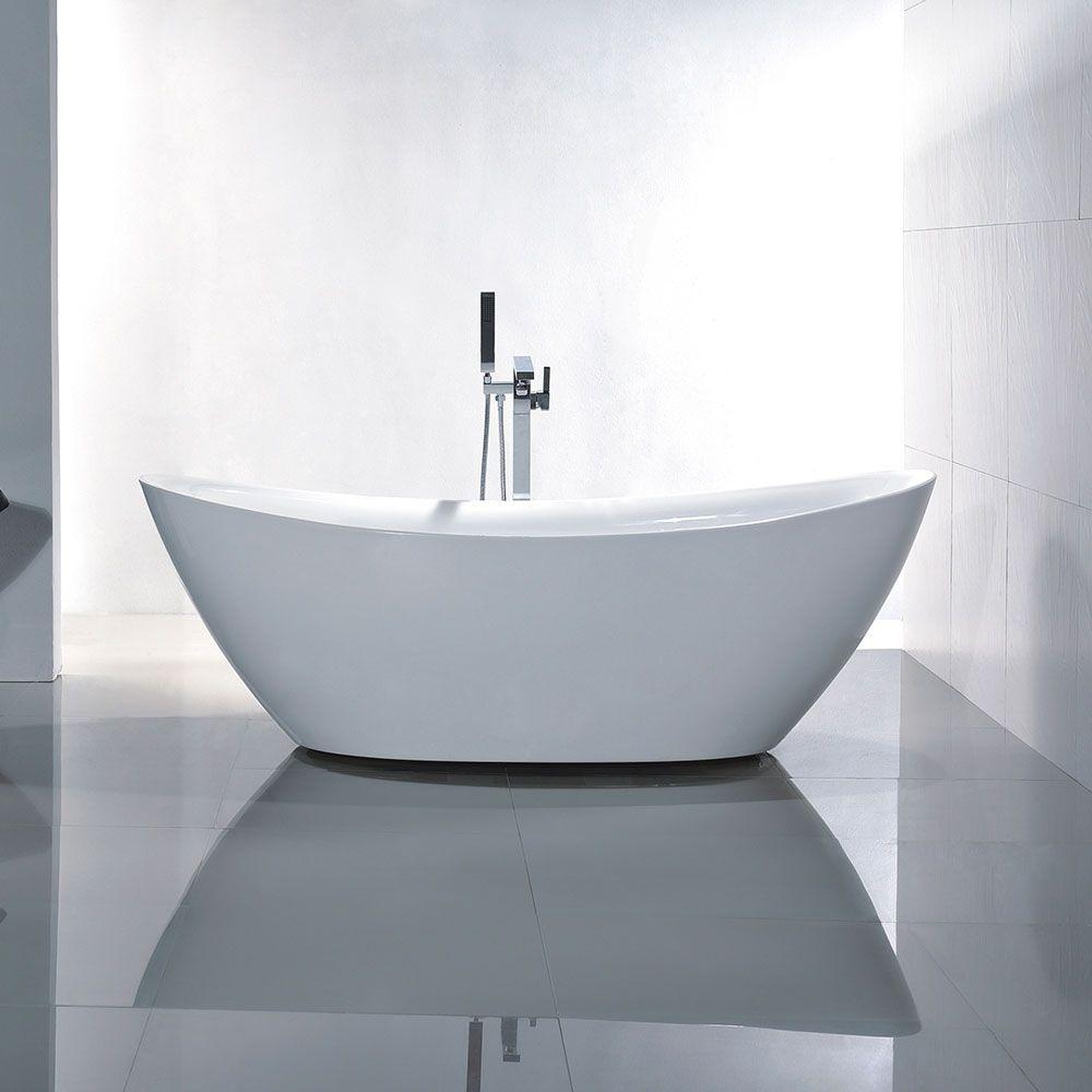 Charm Acrylic Freestanding Bathtub in White | Bathroom | Pinterest ...