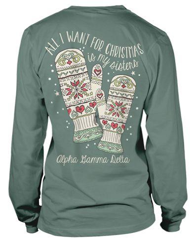 Super Cute Alpha Gamma Delta Christmas T Shirt Mixers Socials