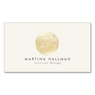 interior designer abstract gold circle logo business cards