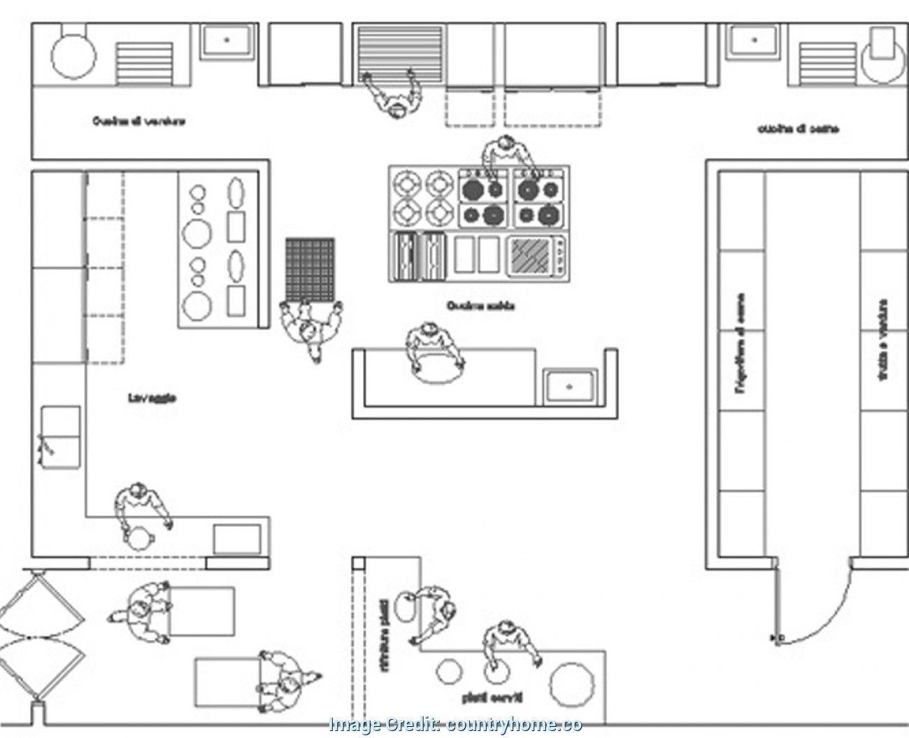 Cucina Ristorante Dwg Cucina Del Ristorante Design Per