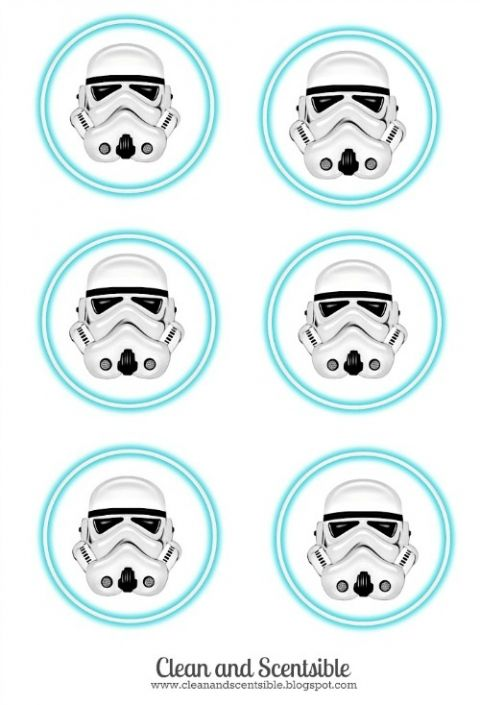 Storm Trooper party labels - use for water bottles, treat bags, cupcake toppers and more!