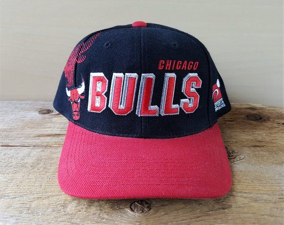 8ebf8ad5496 Chicago BULLS Vintage 90s Official NBA Snapback Hat Sports Specialties  Shadow Logo Baseball Cap Block Script 2 Tone Basketball Ballcap