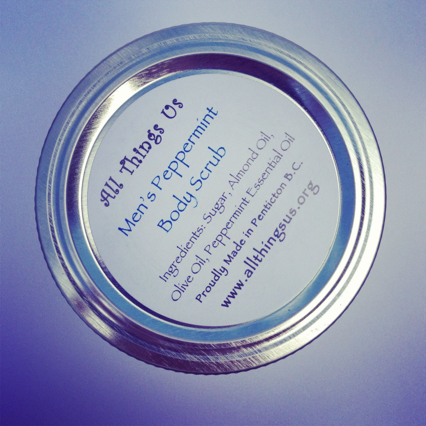 For The Guys! Organic Peppermint Body Scrub, $4.99