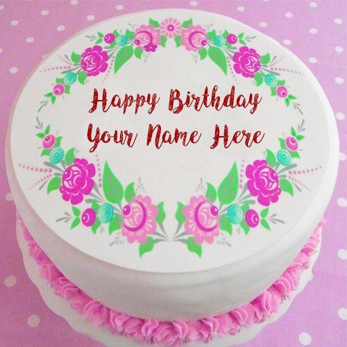 Write Name Beautiful Design Birthday Cake Image Online Birthday