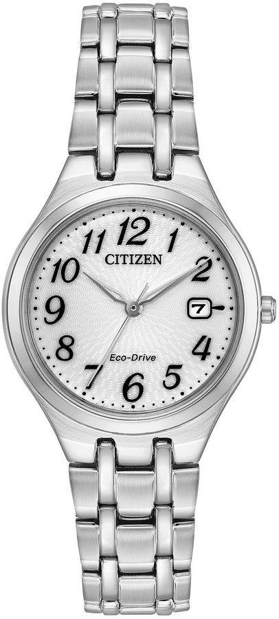 Citizen Womens Silver Tone Strap Watch-Ew2480-59a