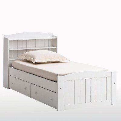 Lit avec tête de lit et tiroirs pin massif, Gaby Kid\u0027s furniture