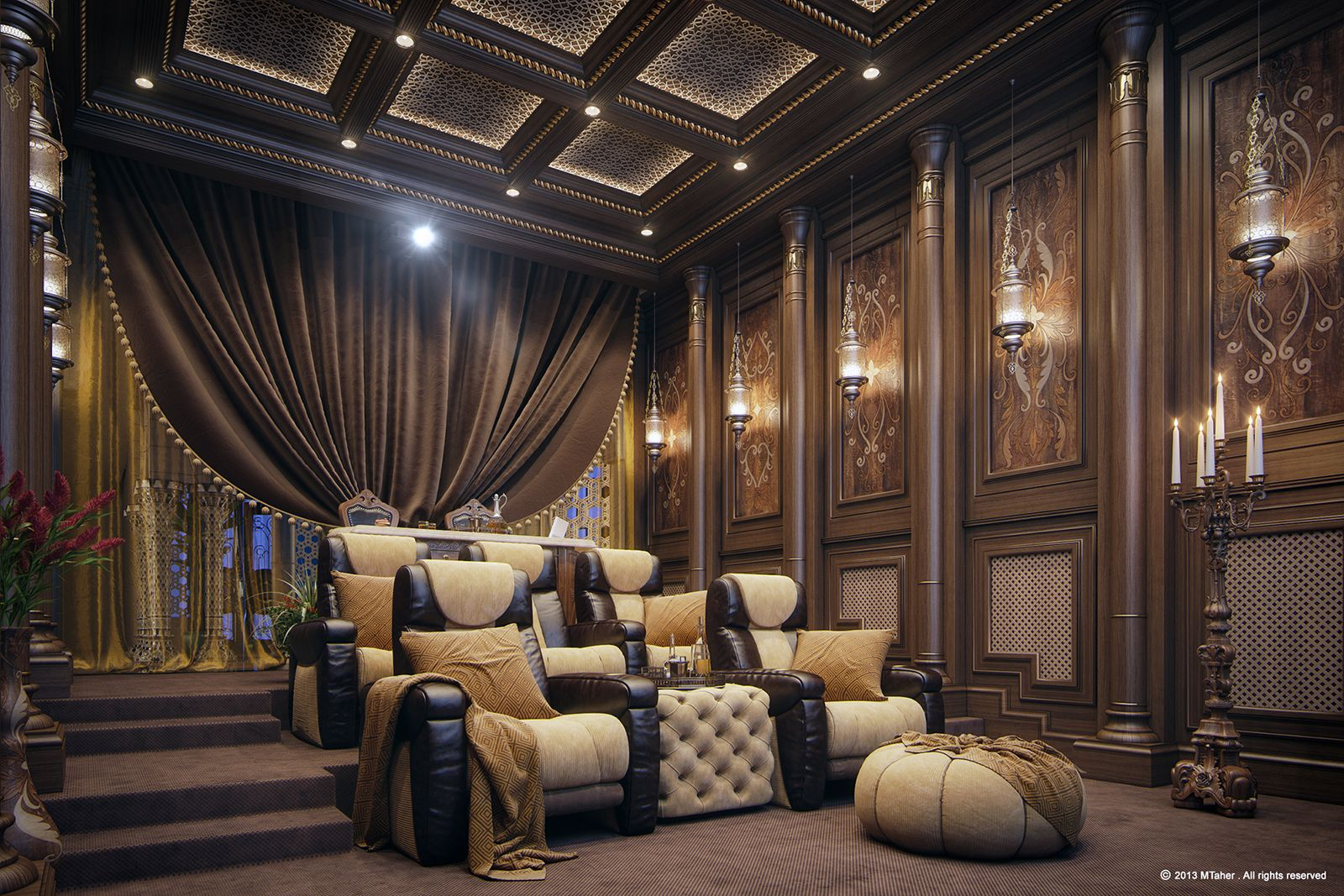 Luxury home theater theater ideas pinterest luxury for Luxury home theater rooms
