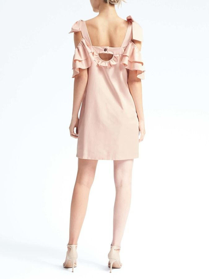 caf3ca2abe05c0 Banana Republic Limited Edition Bow-Shoulder Dress - ShopStyle Women ...