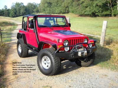 Tj Series Louvered Hood Panel For 03 06 Wrangler Jeep Wrangler