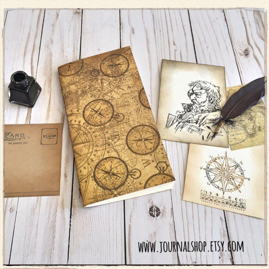 Travelers Notebook Insert With Pockets And Watercolor Paper