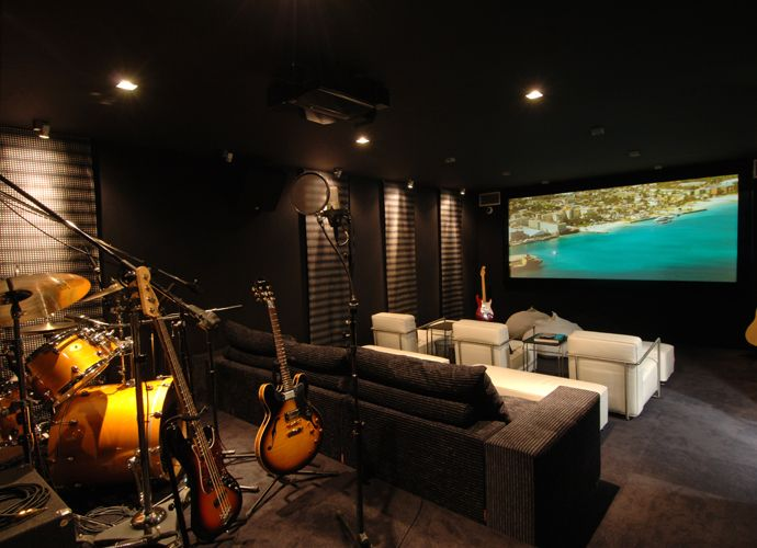 music studio cin ma maison arquitectura casa pinterest studio maison et studio. Black Bedroom Furniture Sets. Home Design Ideas
