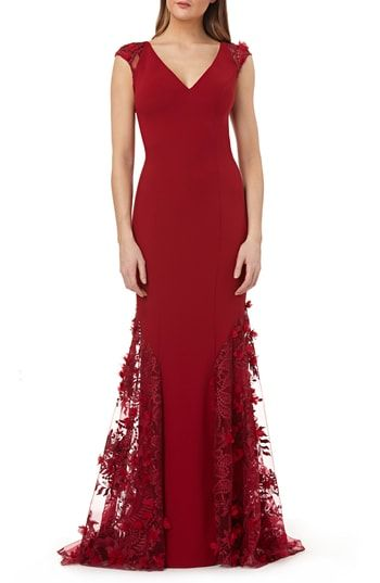 729156faeb99 Carmen Marc Valvo Infusion 3D Floral Inset Gown in 2019