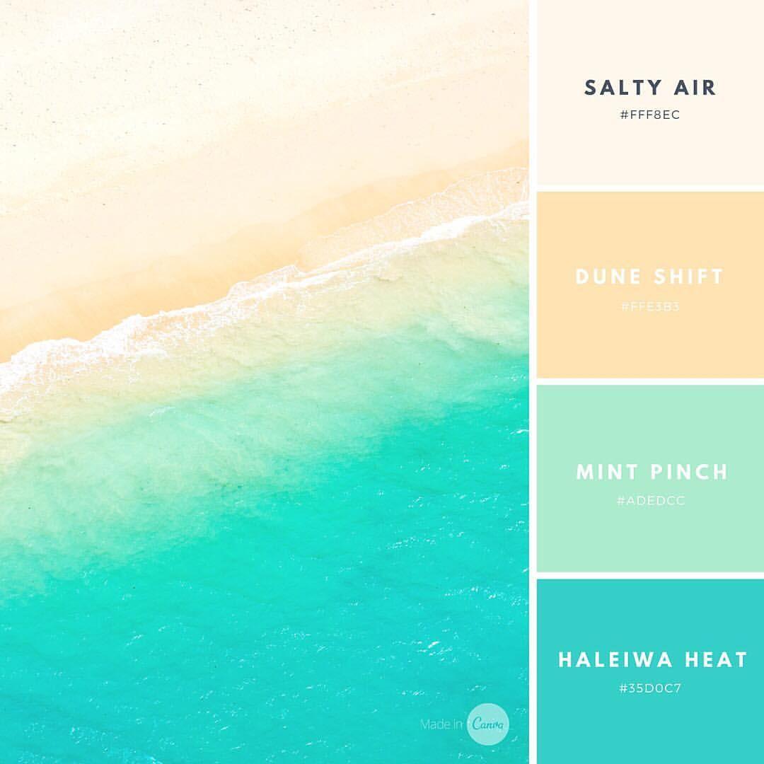 Sun Smoothie By Canva Beach Color Palettes Color Schemes