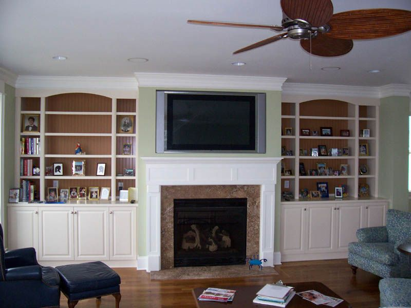 television over fireplace design | TV Flush Mounted above ...