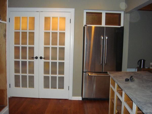 Great Frosted French Glass Doors  Possibly For Sliding Closet Doors?