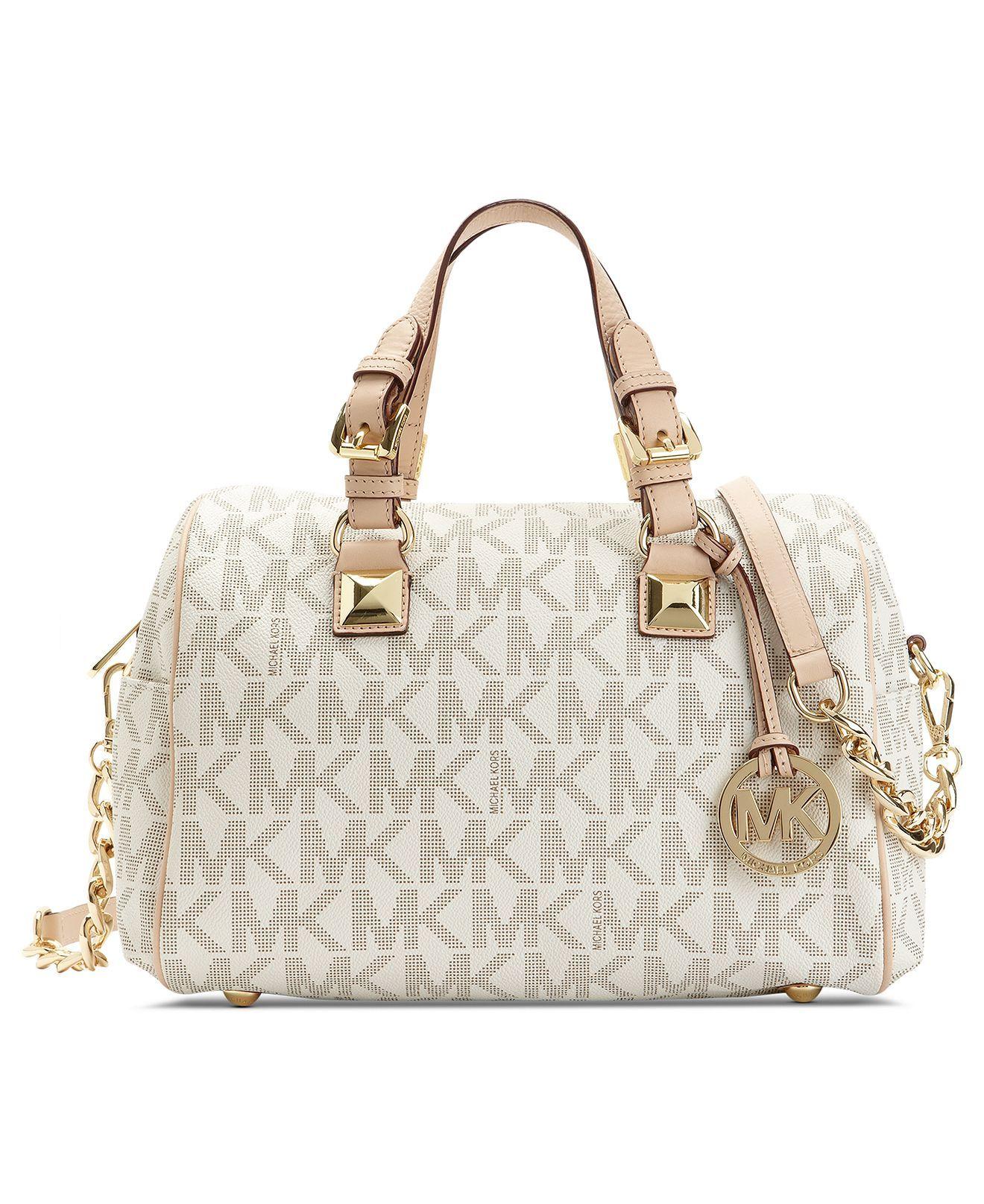 Michael Kors Grayson Monogram Medium Satchel Handbags Accessories Macy S