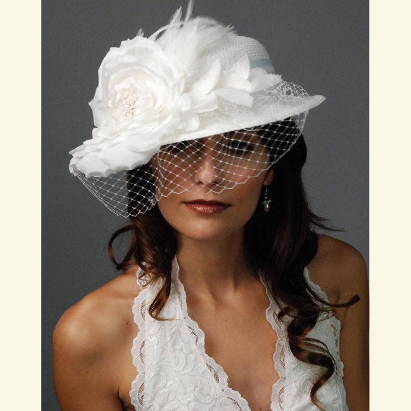 Birdcage Veil Wedding Hat Photo Louisegreen