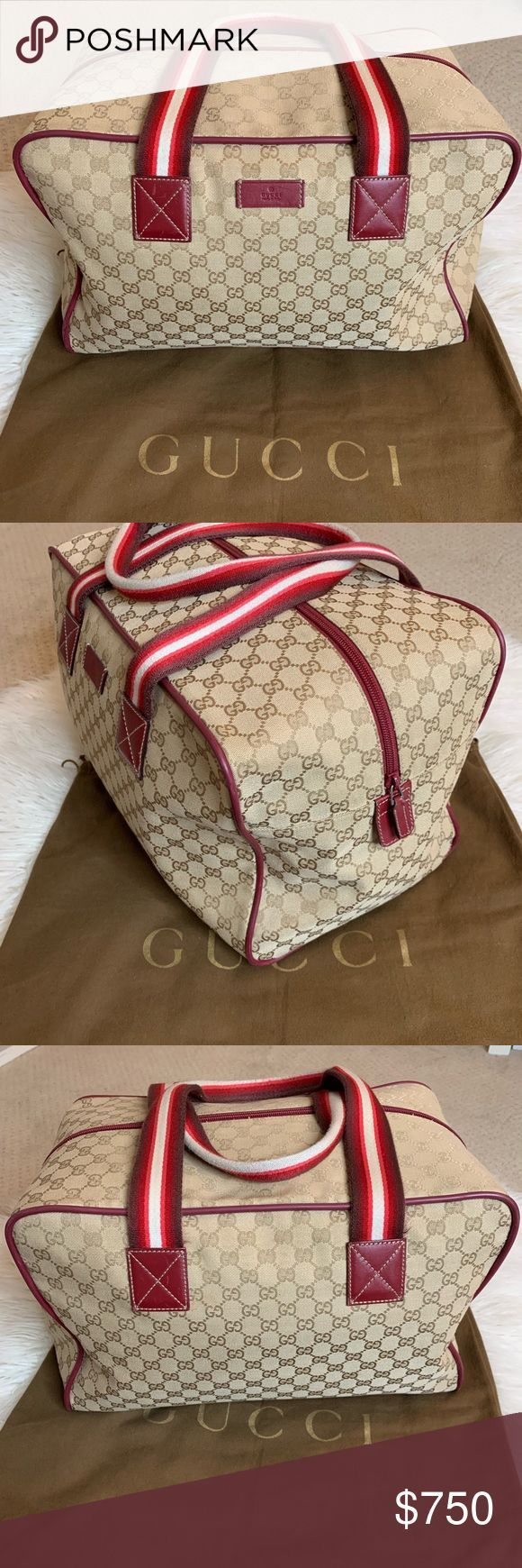 GUCCI TRAVEL DUFFLE BAG GUCCI TRAVEL DUFFLE BAG PERFECT TRAVEL BAG FOR TRIPS  G