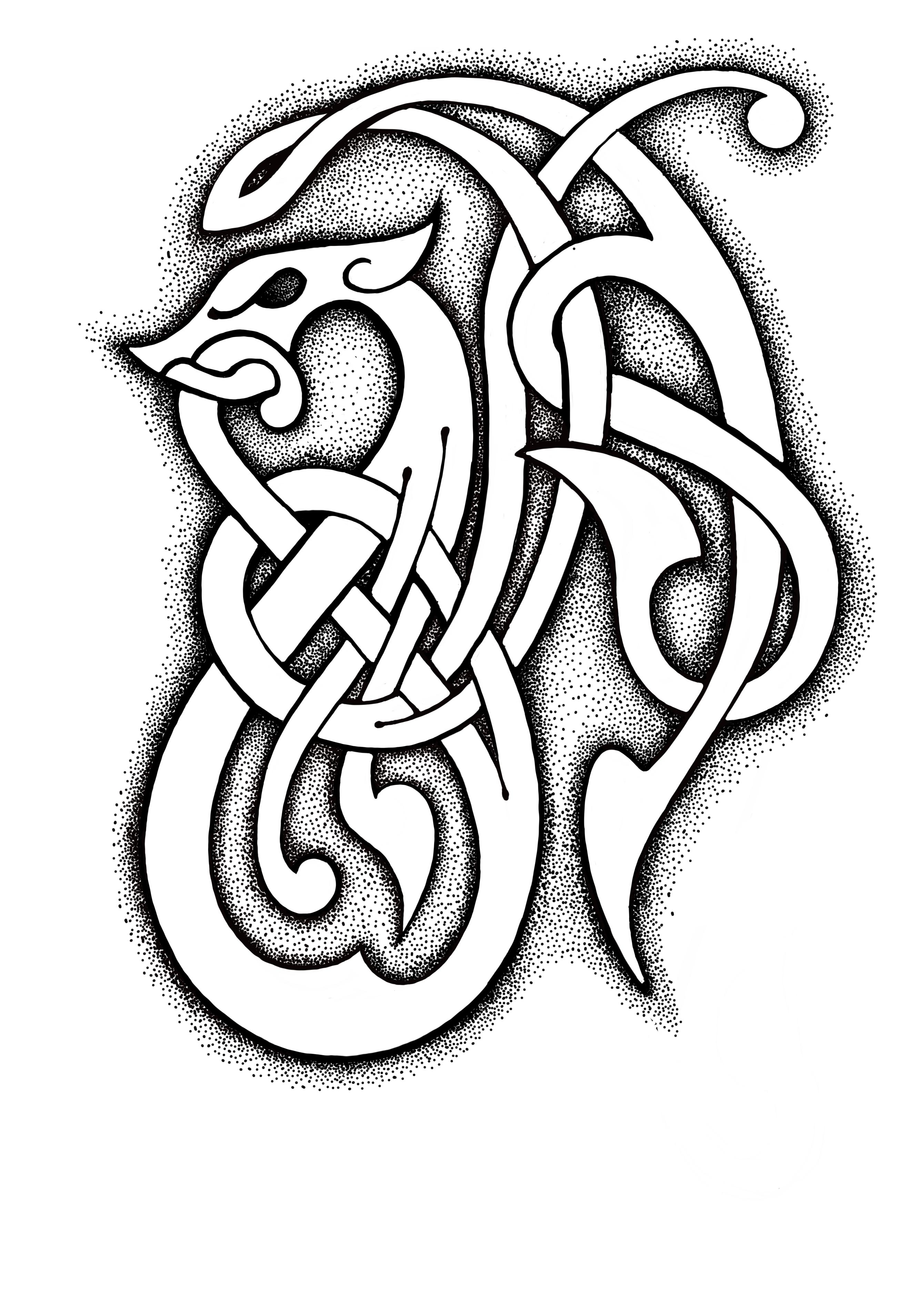 кельтский рисунок картинки необыкновенная