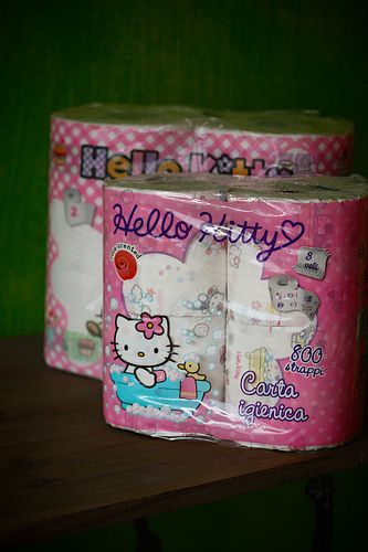 Hello Kitty Toilet Paper by Cute Cottage Overload, via Flickr