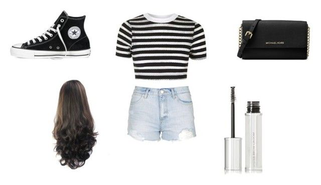 """""""Untitled #144"""" by aeisha-1 ❤ liked on Polyvore featuring Topshop, Converse, Michael Kors and Givenchy"""