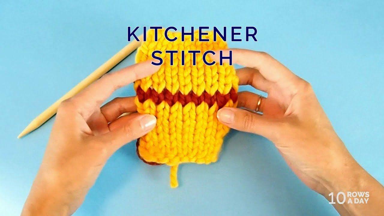 Knitting in under a minute kitchener stitch knitting