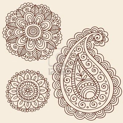 b7e305dce Mehndi flower and paisley doodle embroidery idea- also looks like Zentangle  - Fabulous! Might be a good cover-up for a botched tattoo in my case