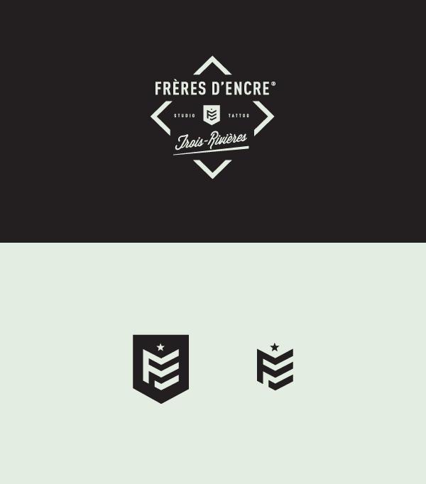 Frères d'Encre Tattoo Shop logo design by Carolane Godbout and Sebastien Dust Leblanc. #logo #logodesign