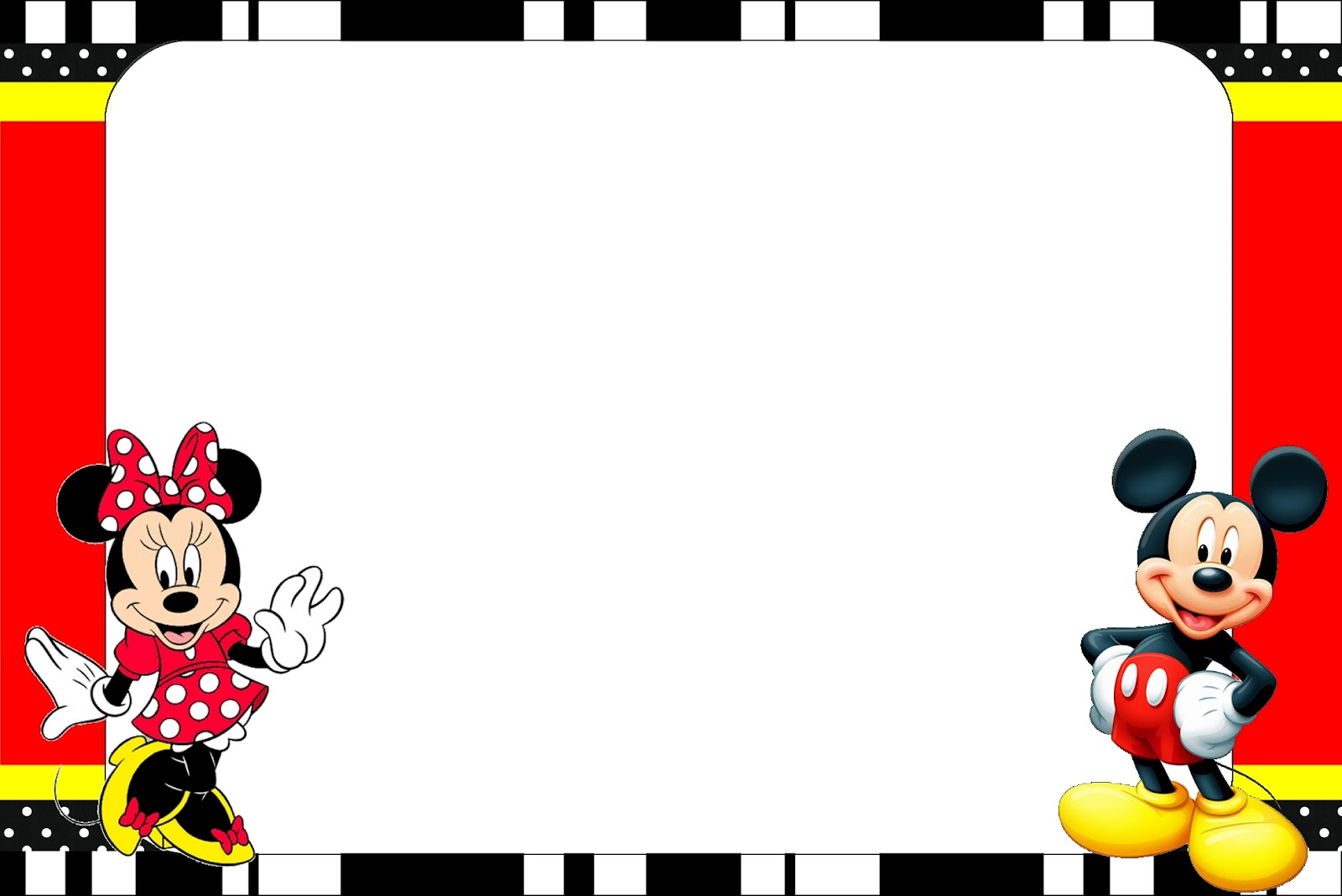 Magnífico Marcos De Fotos Minnie Mouse Bosquejo - Ideas ...