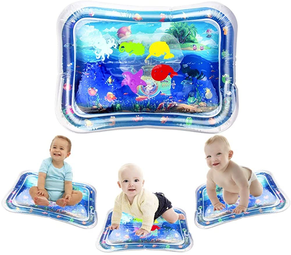 Bullsy Kids Inflatable Premium Baby Water Mat For Tummy Time Infants Toddlers Fun Play Activity Center For Your Baby Toddler Fun Tummy Time Activity Centers