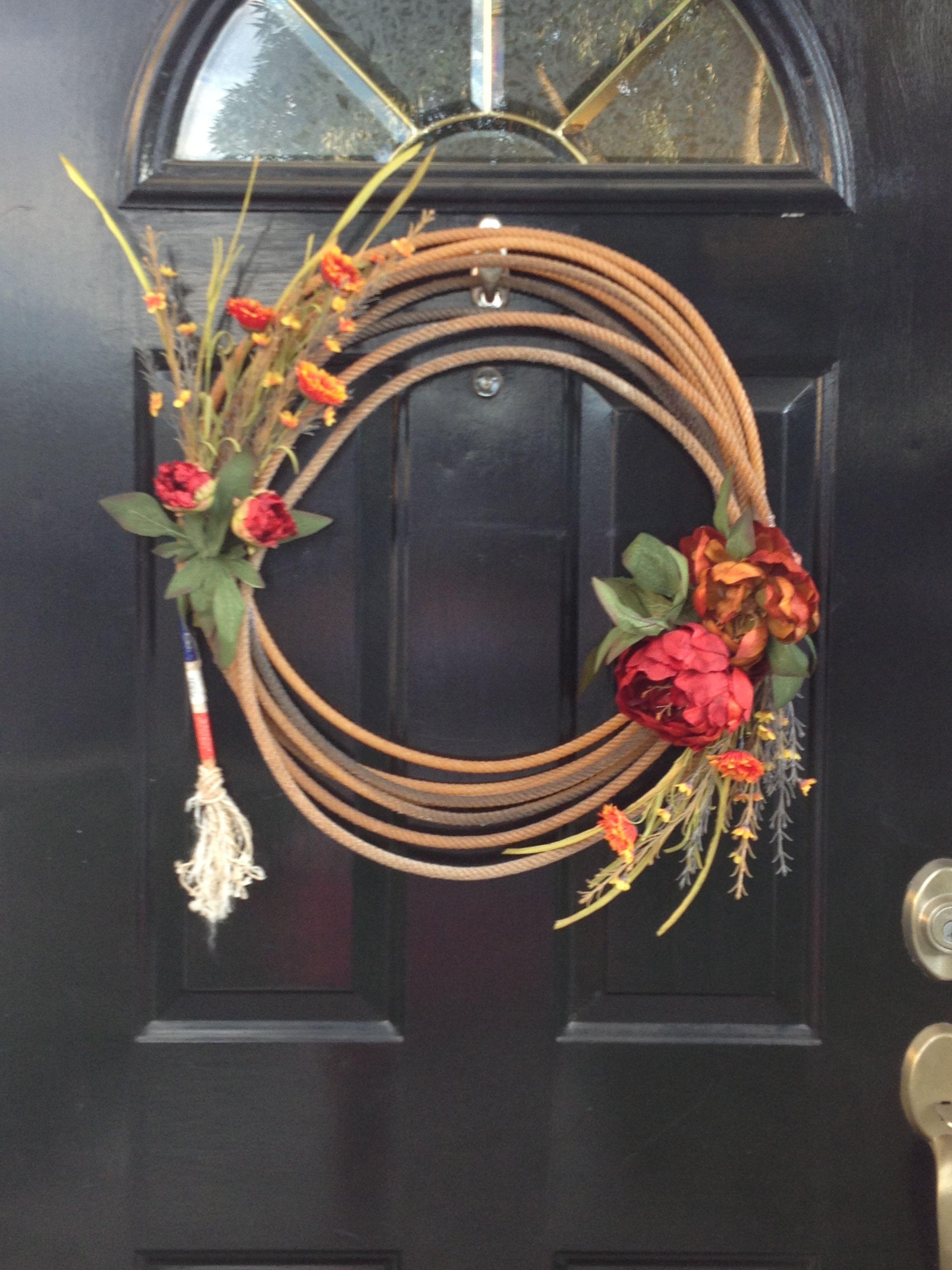 Rope wreath Home Pinterest