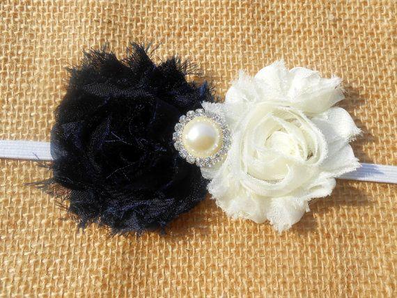 Shabby Chic Winter Headband by EnglishBliss on Etsy, $7.95