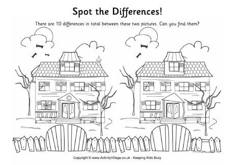 Find the Differences - Haunted House   Halloween Peds OT ...