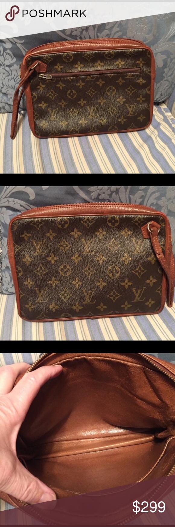 ❤Vintage Louis Vuitton Clutch Vintage clutch with wrist strap