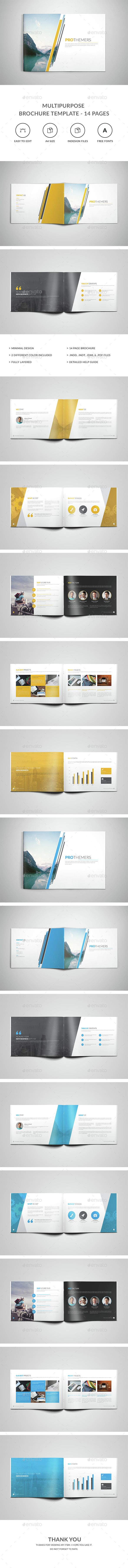 Multipurpose Brochure Template – 14 Pages | Tarjeta de visita ...