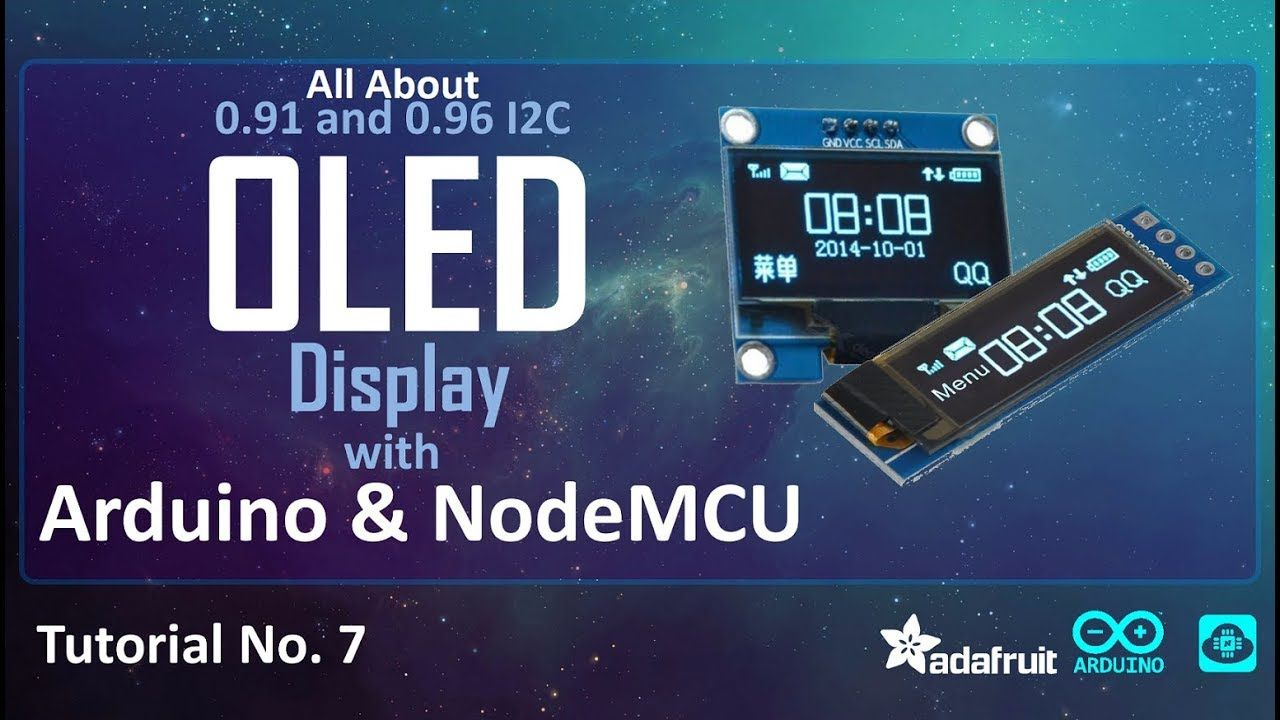 Tutorial on I2C OLED Display with Arduino/NodeMCU - YouTube